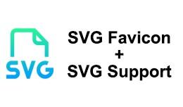 SVG Favicon + SVG Support