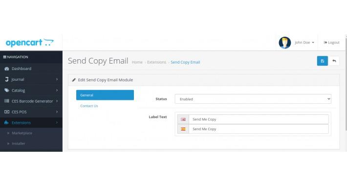 CES Send Copy Email