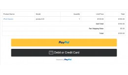 PayPal Standard Smart Button Credit Card Payment
