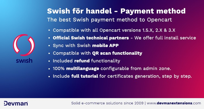 Swish för handel - Payment method