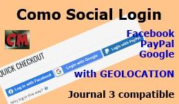 Como Social Login - Facebook, PayPal, Google, wi..