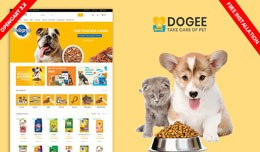 Dogee Petstore Template-Free inatall(Pet Food, A..