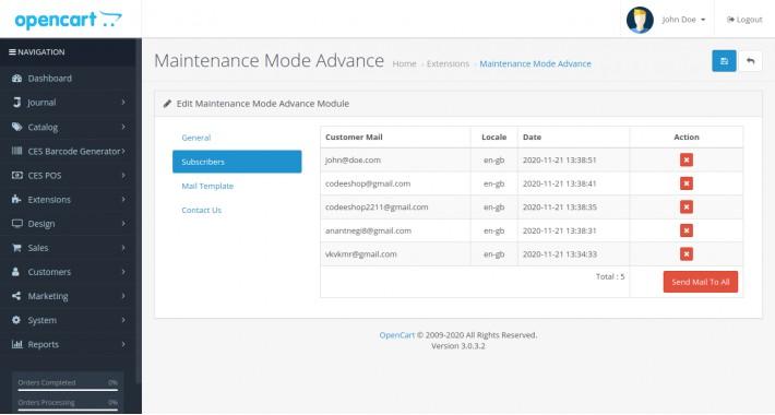 CES Maintenance Mode Advance