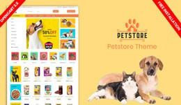 Petstore New Responsive Opencart Theme (Free Ins..