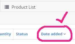Sort Products In Admin By Date