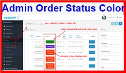 Admin Order Status Color