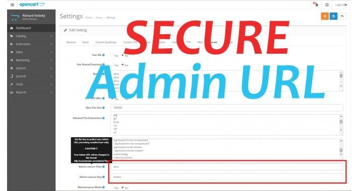 (OCMOD) Secure Admin URL