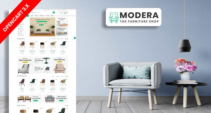 Meri Furniture Ecommrce Opencart Website Template
