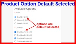Product Option Default Selected