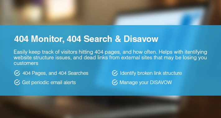 404 Monitor / Search 404 & Disavow Editor (SEO Ultimate)