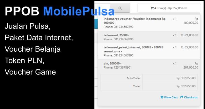 PPOB MobilePulsa - Jual Pulsa, Paket Internet, Token PLN, dll