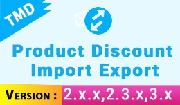 Product Discount import Export