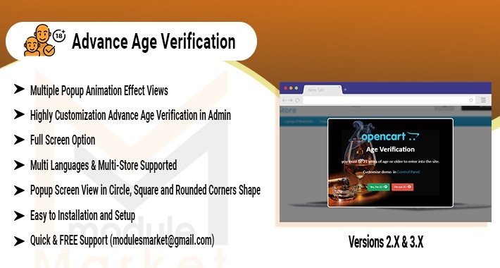 Advance Age Verification.