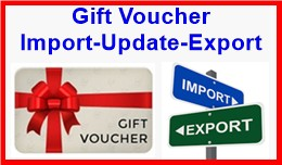 Gift Voucher Import-Update-Export