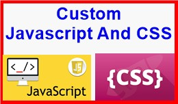 Custom Javascript And CSS