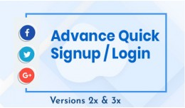 Advance Quick Signup/Login