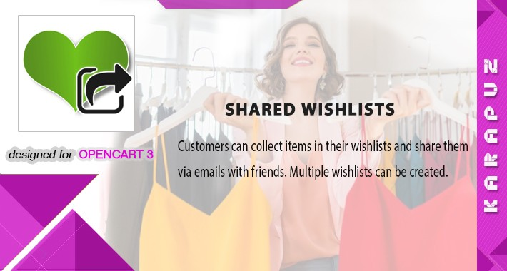 Shared Wishlists (Opencart 3)
