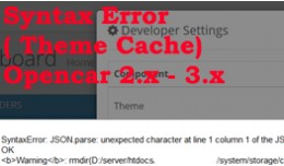 Syntax Error Theme Cache Issue Fix for OpenCart ..