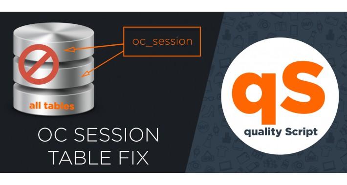 Oc Session table fix increase