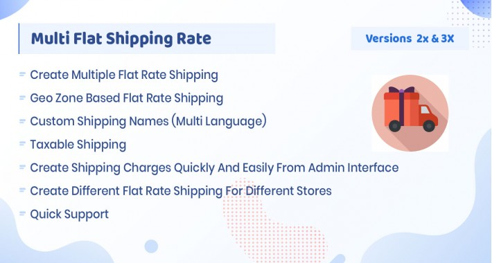 Multi Flat Shipping Rate