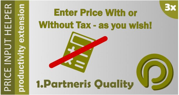 Price Input Helper  3 - enter prices with tax included