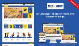 Mechshop Auto Tools & parts Responsive Theme