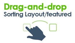 Drag & Drop order, Layouts Sort and featured..