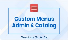 Custom Menus Admin & Catalog