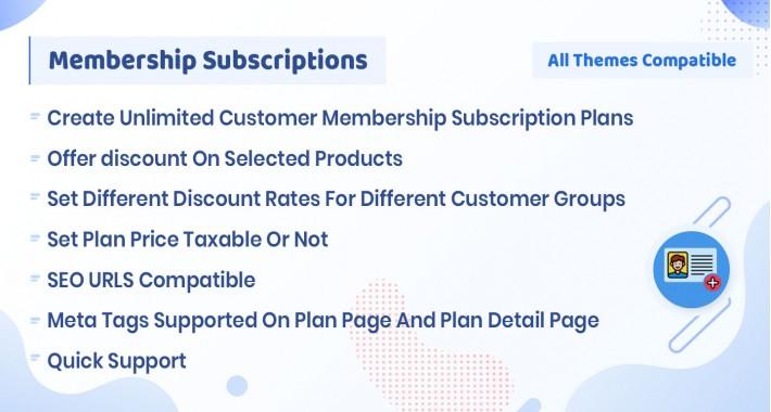 Customer Membership Subscriptions
