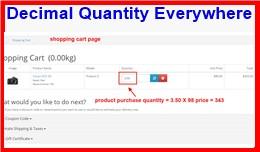 Decimal Quantity Everywhere