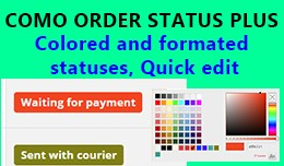 Como Order Status Plus - Colored, Quick edit, Qu..