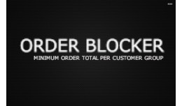 OrderBlock - Minimum order value per customer gr..