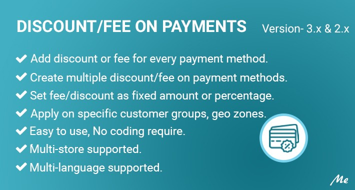 Discount/Fee on Payments
