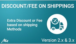 Discount/Fee on Shipping
