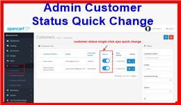 Admin Customer Status Quick Change