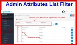 Admin Attributes List Filter
