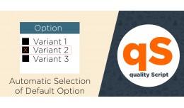 Automatic Selection of Default Option Pro