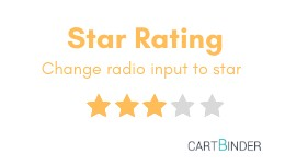 Star Rating : Change Radio Input To Star