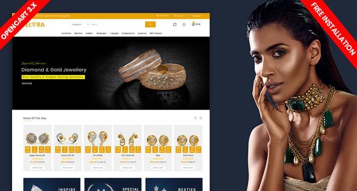 Elora Diamond & jewellery  eCommerce Website Template
