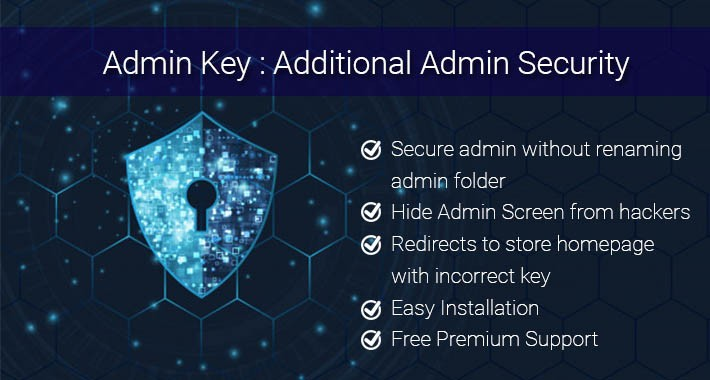 Admin key : Additional Security for Admin Login Page