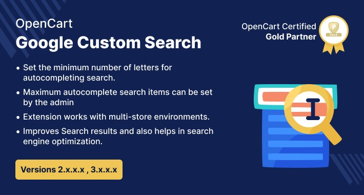 Opencart Google Custom Search
