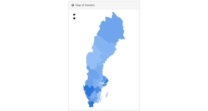 Dashboard Swedish Map