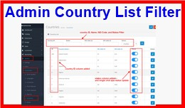 Admin Country List Filter