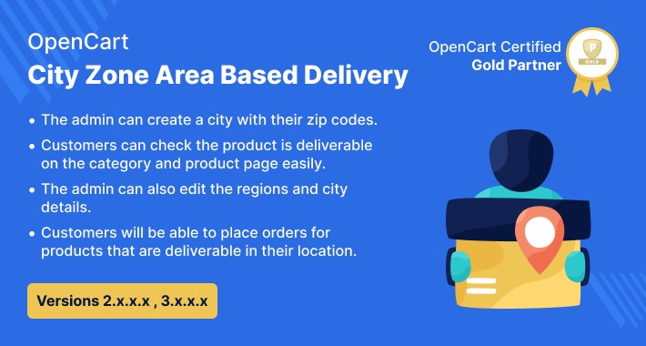 Opencart City Zone Area Based Delivery