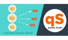 Customers Groups Option