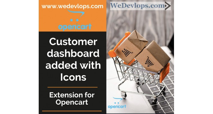 Customer Dashboard added with Icons