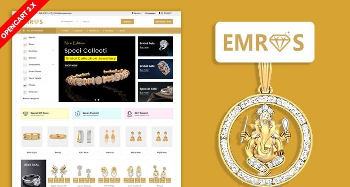 Emros Jewellery Ecommerce Website Template