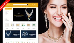 Avita Diamond Jewelry Ecommerce Website Template