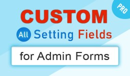 Extra Custom Setting Fields for Admin Forms