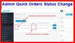 Admin Quick Orders Status Change